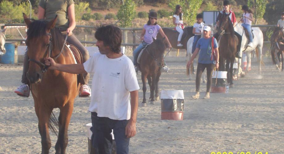 Ejercicio Clase Equitación- Cortijo Las Minas
